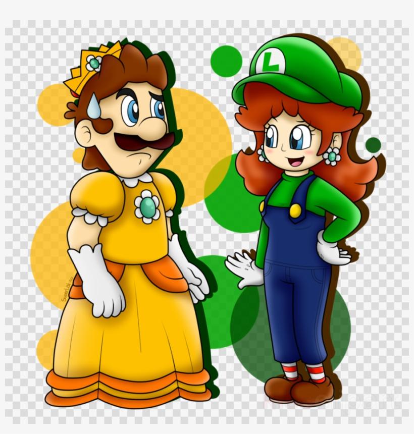 Luigi daisy. Clipart princess peach