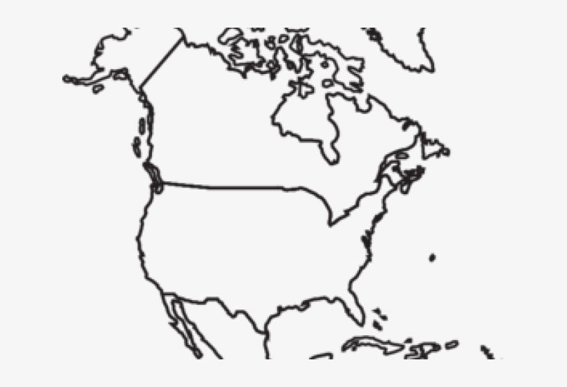 image about Printable North America Map identified as Map Of The United states Clipart Define - Printable North The us