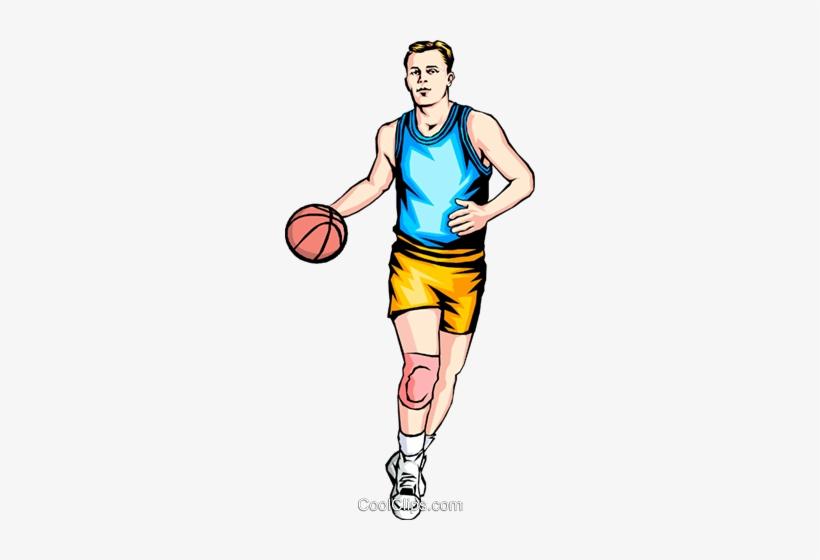 Man Playing Basketball Royalty Free Vector Clip Art - Man