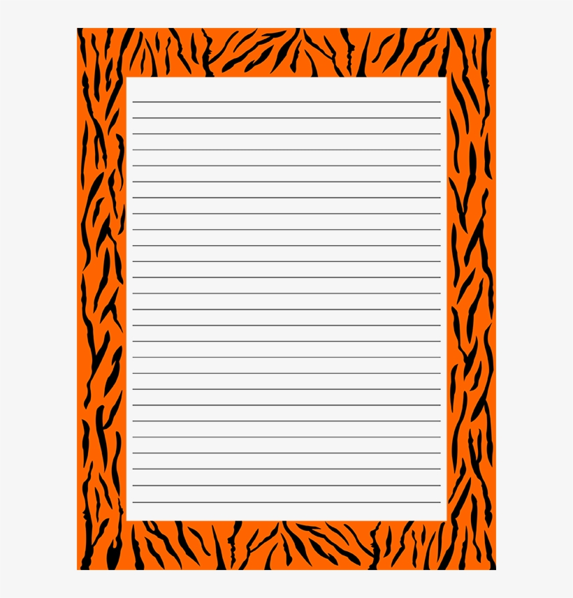 graphic relating to Free Printable Stationery Pdf named Absolutely free Printable Tiger Print Stationery Within just Jpg And Pdf