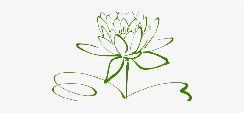 Small Lotus Flower Outline Tattoo Lotus Png Black N White