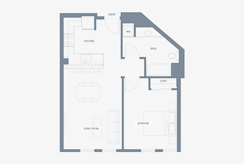 For The A13 A Floor Plan Aventine Apartments Transparent Png 640x480 Free Download On Nicepng