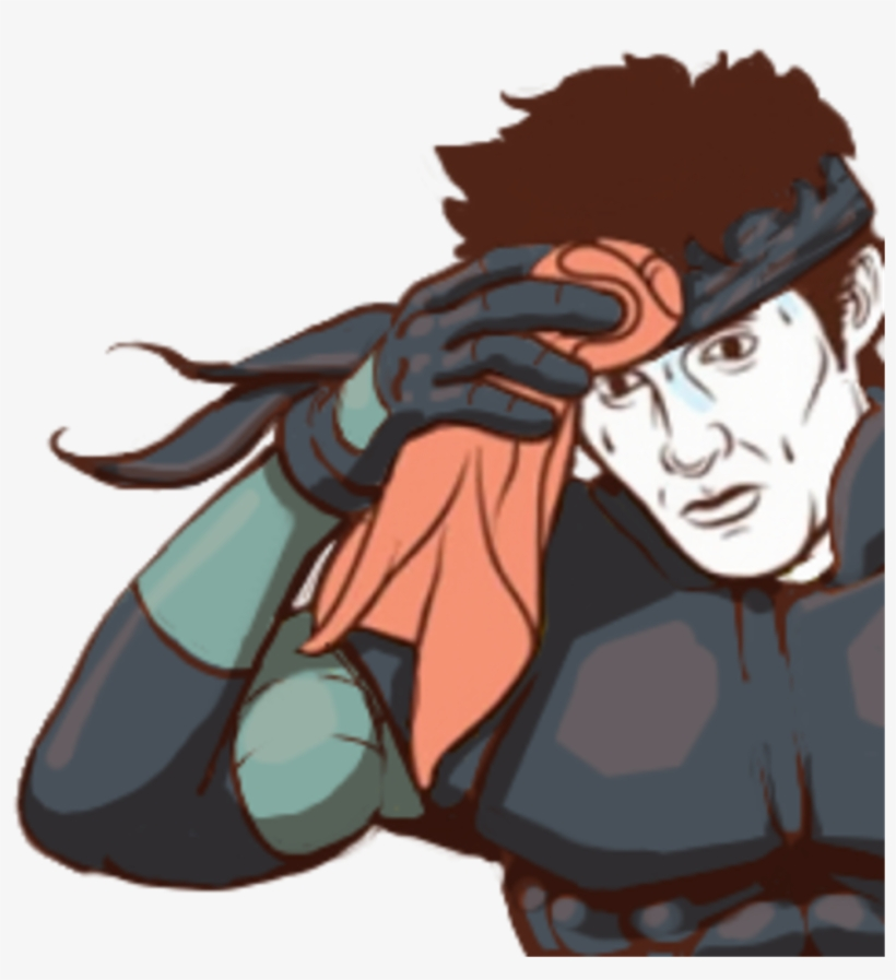 Meme Funny Interesting Solidsnake Sweating Meme Metal Gear