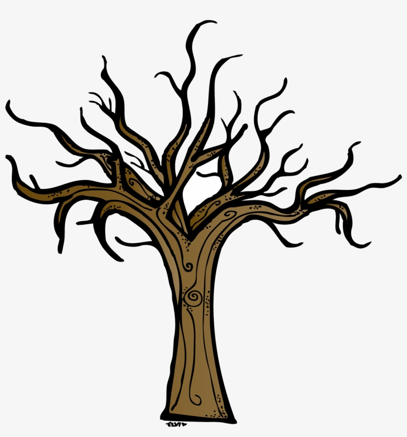 Dead Tree Trunk Clip Art Black And White Bare Tree Clip Art