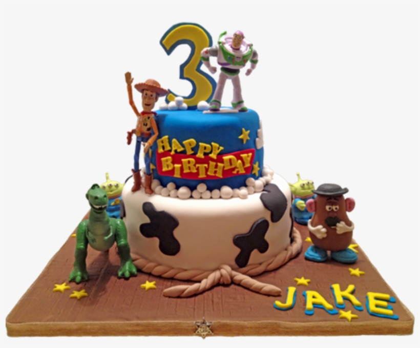 Peachy Disney Toy Story Birthday Cake Gumpaste Characters Toy Story Personalised Birthday Cards Rectzonderlifede
