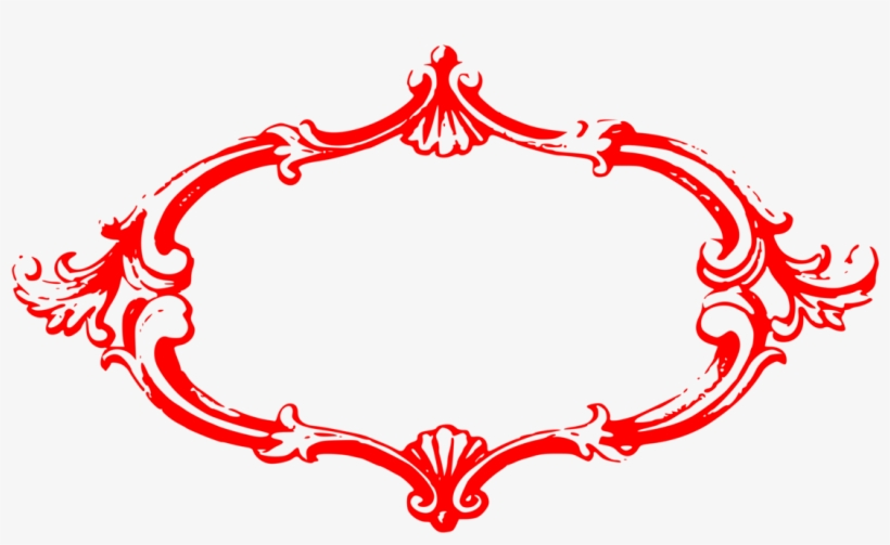 Picture Frames Clip Art Christmas Ornament Drawing Decorative Red