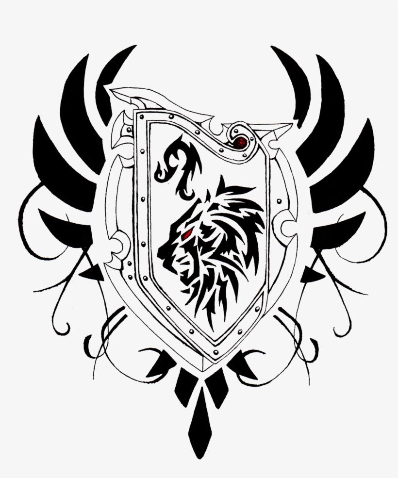 Sword And Shield Tattoo Designs Tato Tribal Zodiac Leo Transparent