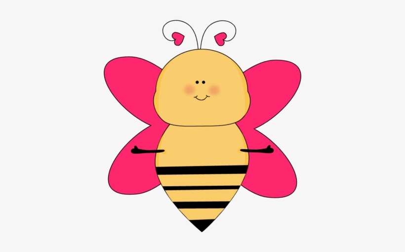 Bumblebee Clipart Cute Animal Pink Bee Clip Art Transparent Png 400x430 Free Download On Nicepng