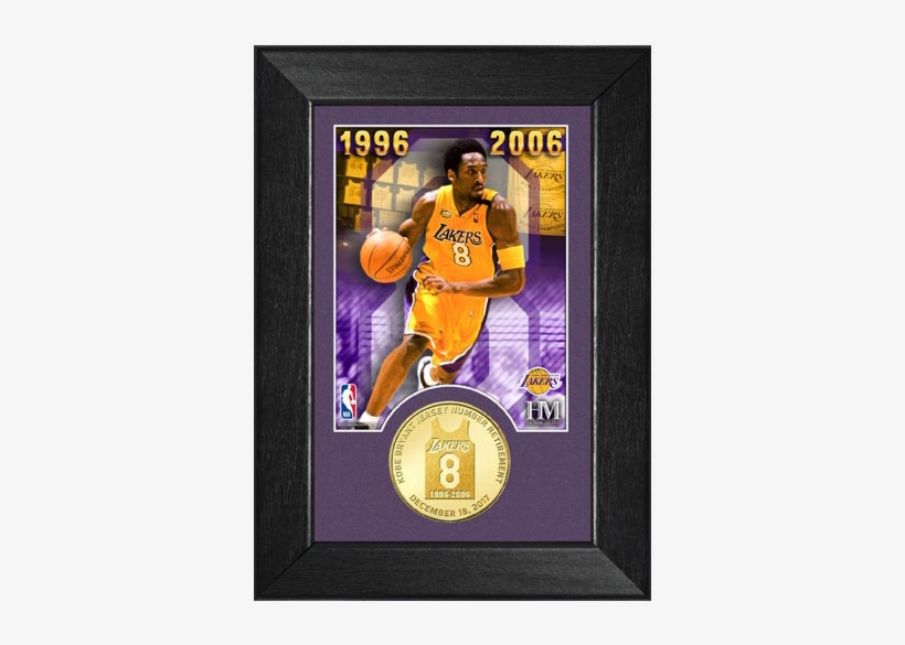 competitive price 1ec16 0a8e4 Kobe Bryant Jersey Number 8 Retirement Coin Frame - Los ...