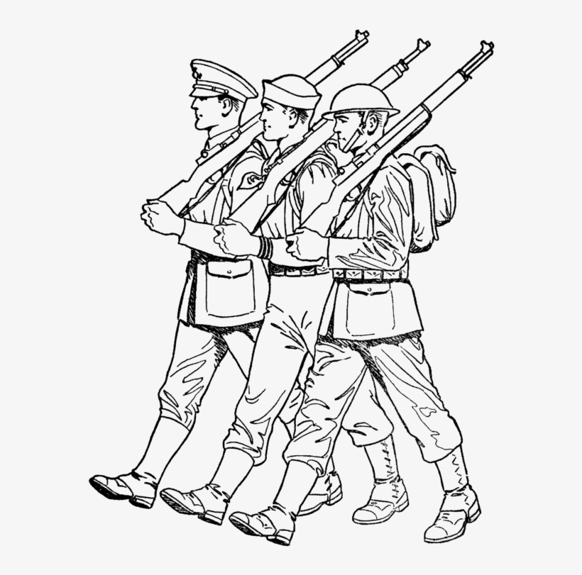 Soldiers Marching Veterans Day Coloring Pages Coloring March For Coloring Transparent Png 590x755 Free Download On Nicepng