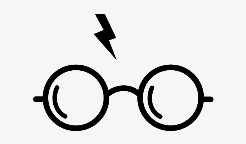 graphic relating to Harry Potter Glasses Printable identified as Harry Potter Png Clear History - Harry Potter