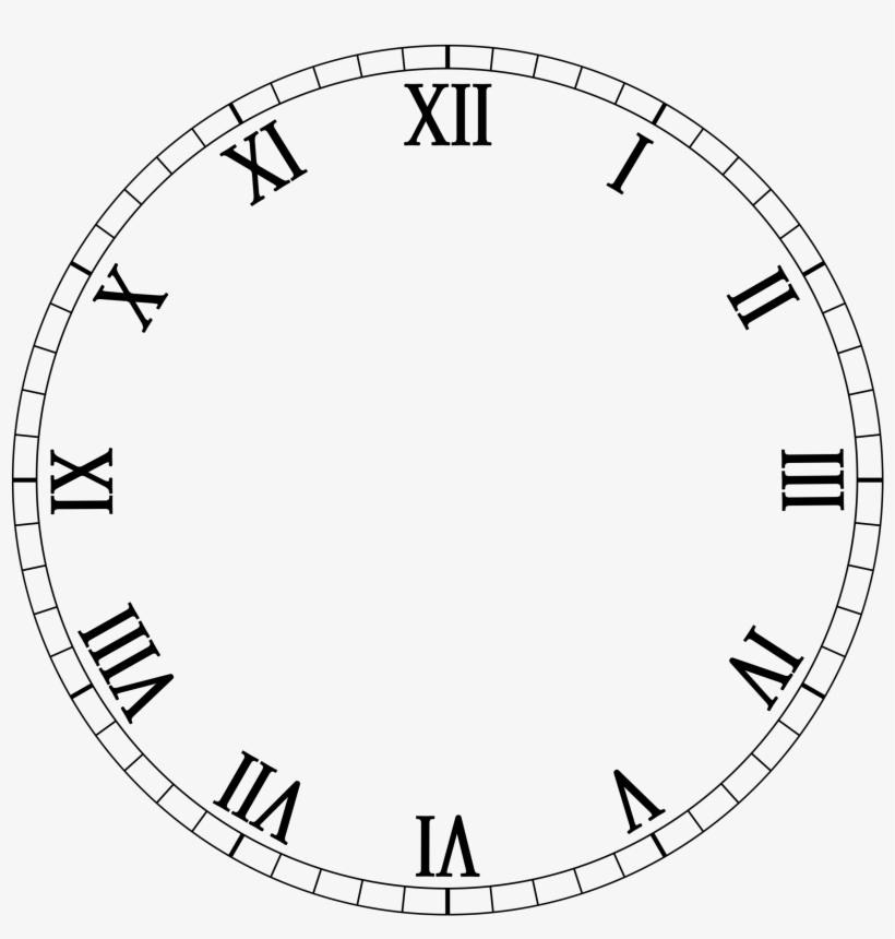 image regarding Printable Clock Face With Hands referred to as Clock No Palms Png Clipart - Clock Encounter Template Clear