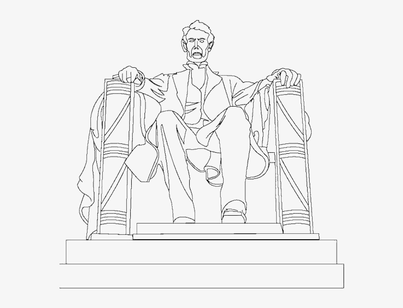 A Drawing Of Abraham Lincoln Memorial Coloring Page - Lincoln ...