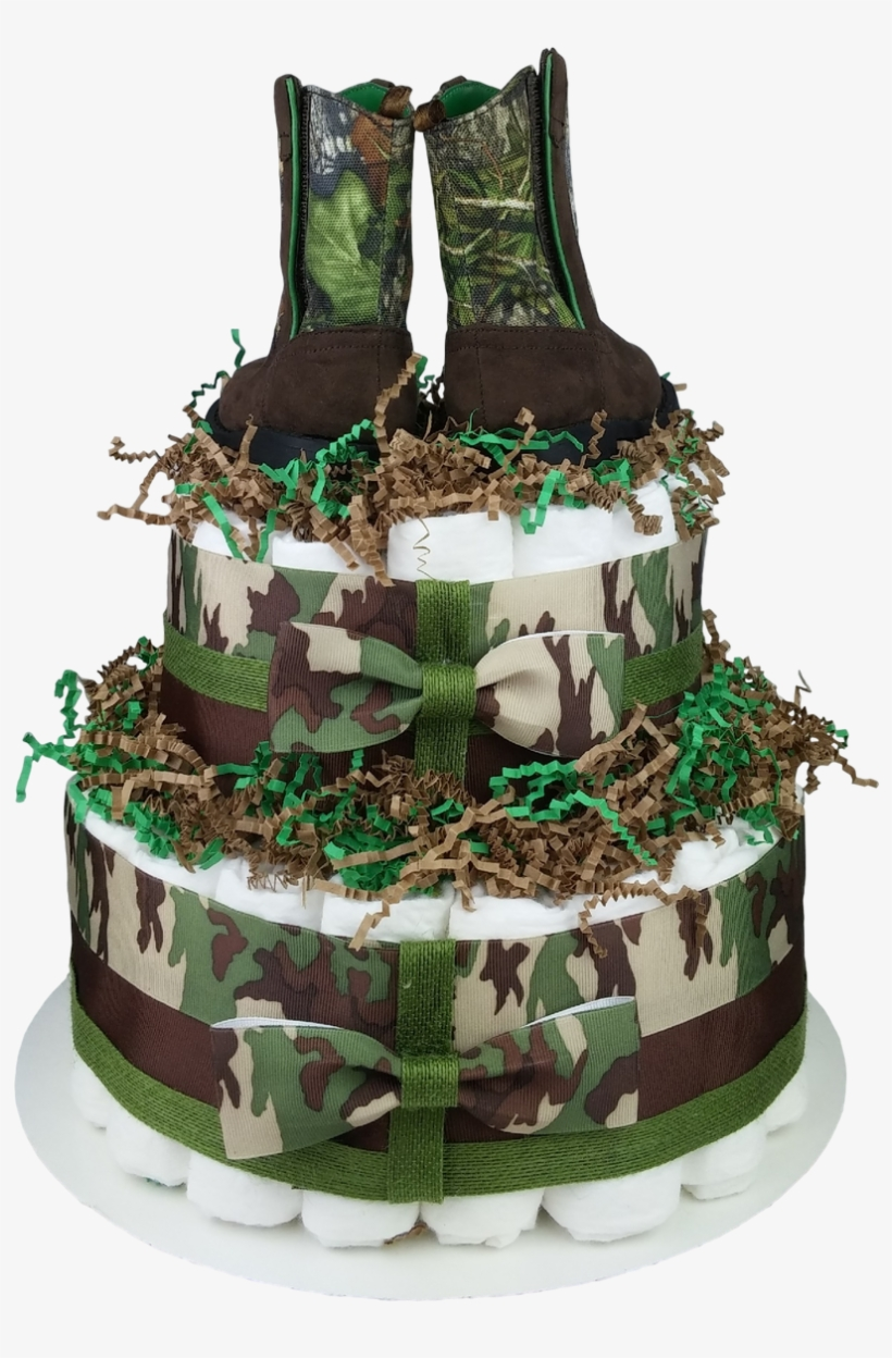 Marvelous Green Camo Diaper Cake For Boys Birthday Cake Transparent Png Birthday Cards Printable Opercafe Filternl