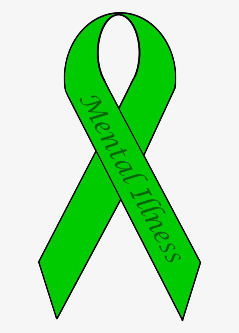 Mental Health Awareness Ribbon Colors Mental Illness Transparent Transparent Png 900x1350 Free Download On Nicepng