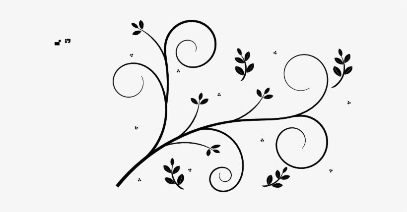 Clip Art At Clker Flower Vine Drawing