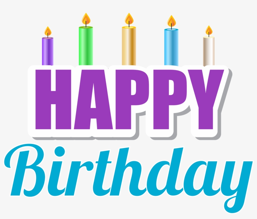 Happy Birthday With Candles Png Clip Art