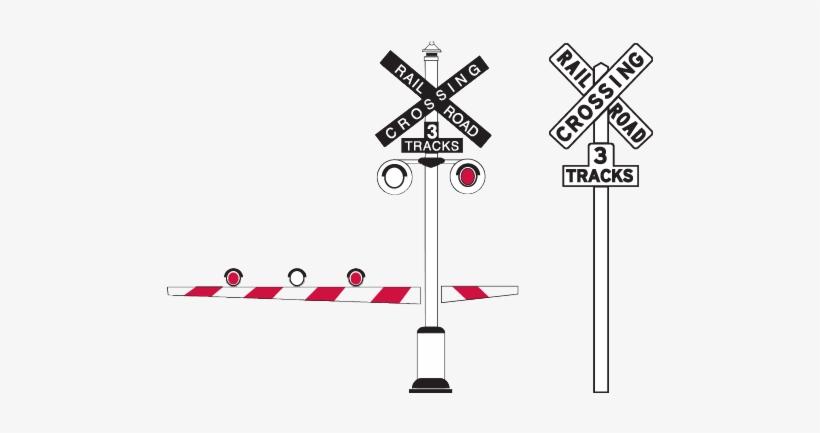Railroad Crossing Signals Transparent PNG - 496x352 - Free