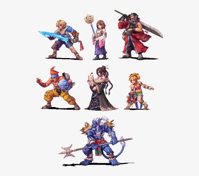 Final Fantasy X Pixel Transparent Png 600x643 Free Download On Nicepng