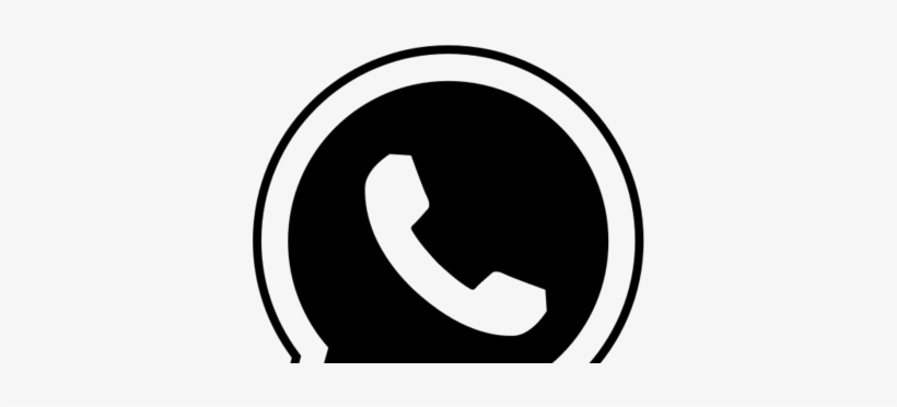 Whatsapp Logo Vector Png Whatsapp Logo Png Black And White Transparent Png 400x300 Free Download On Nicepng