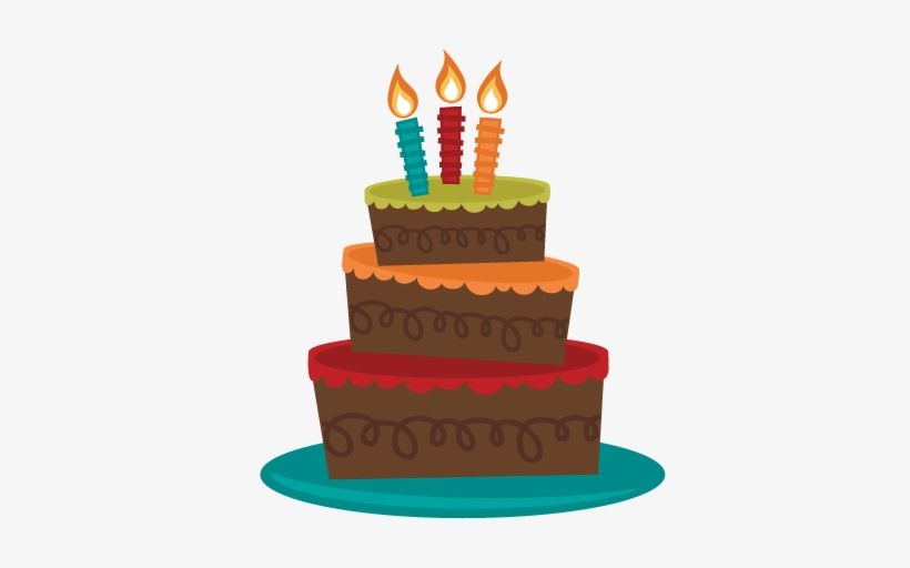 Vector Library Tiered Birthday Svg