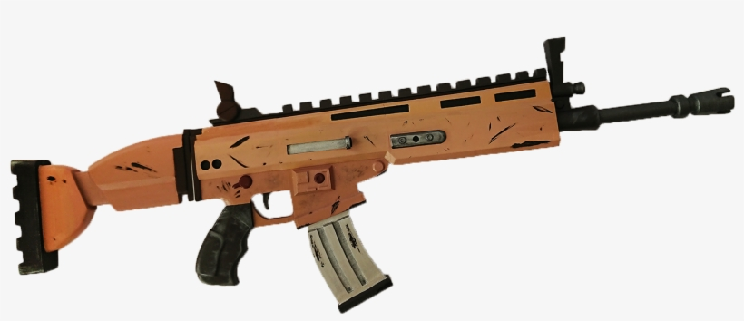 scar aoturifle with moving parts fortnite scar transparent png download - scar h fortnite png