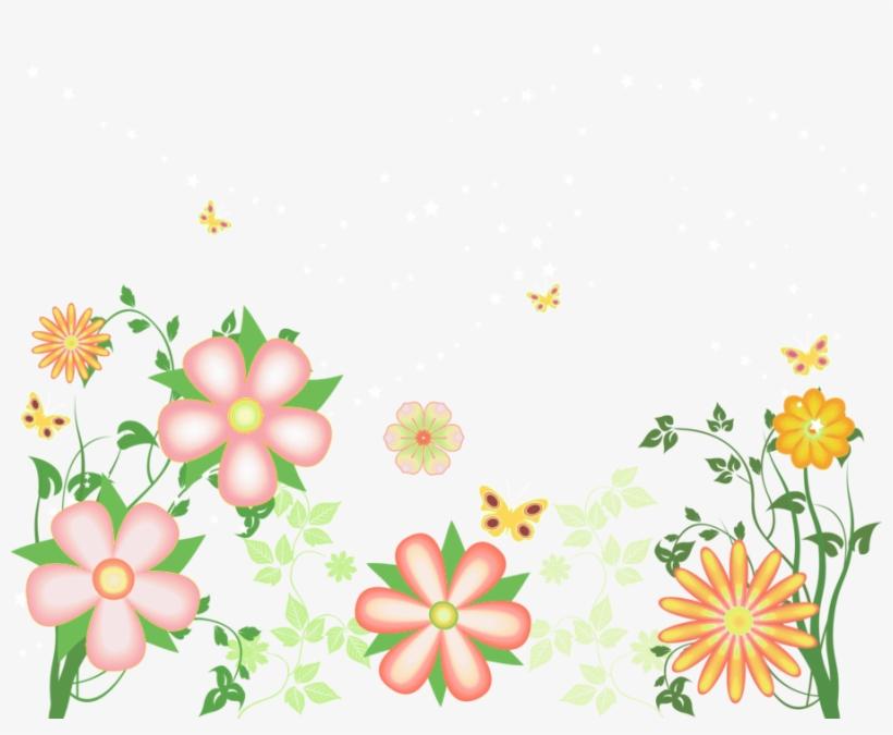 Watercolor Floral Border Decoration Flower Flowers Design