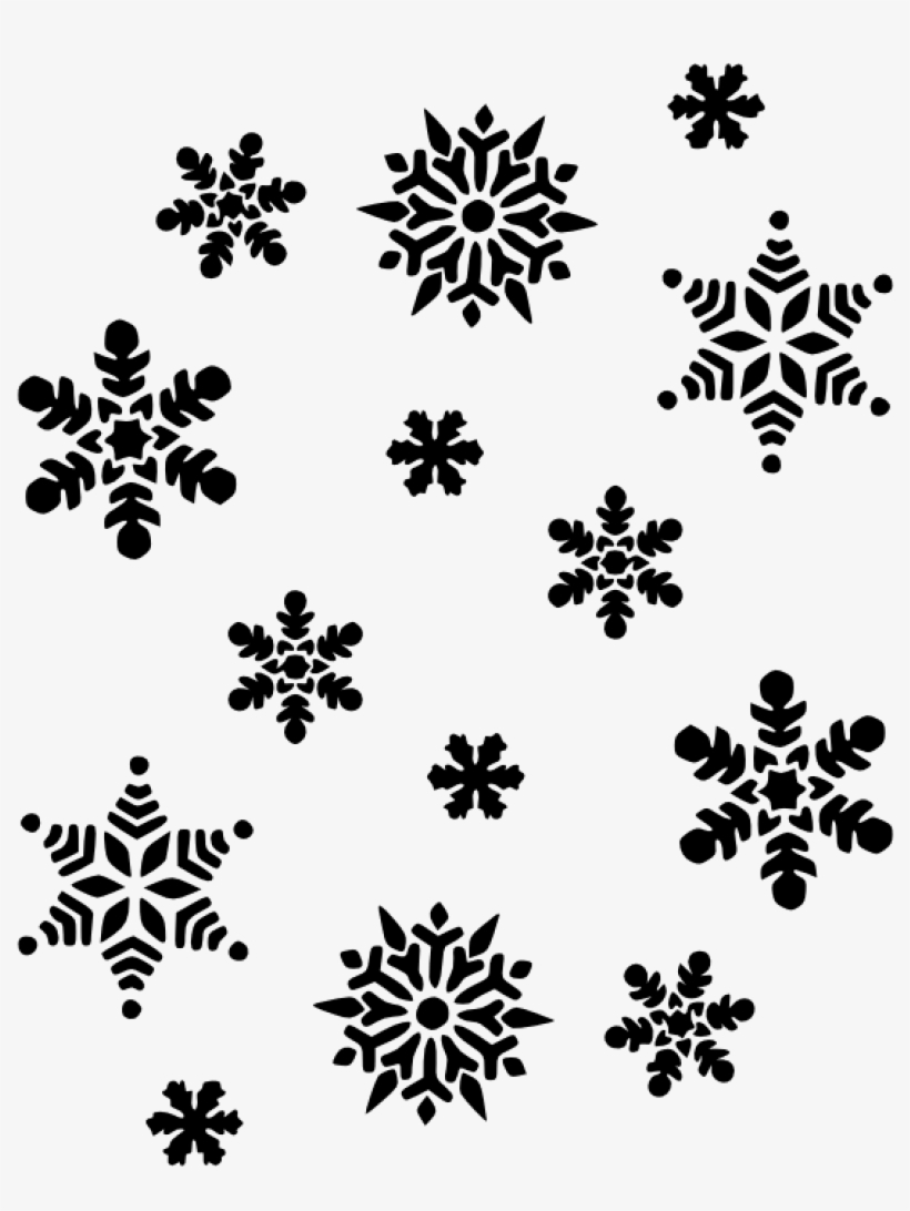 Black And White Snowflake Christmas Tree Clipart Hatenylo