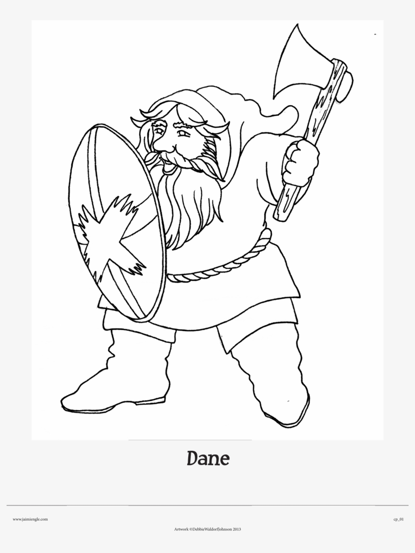 Dane The Dwarf From Clifton Chase And The Arrow Of - Line Art