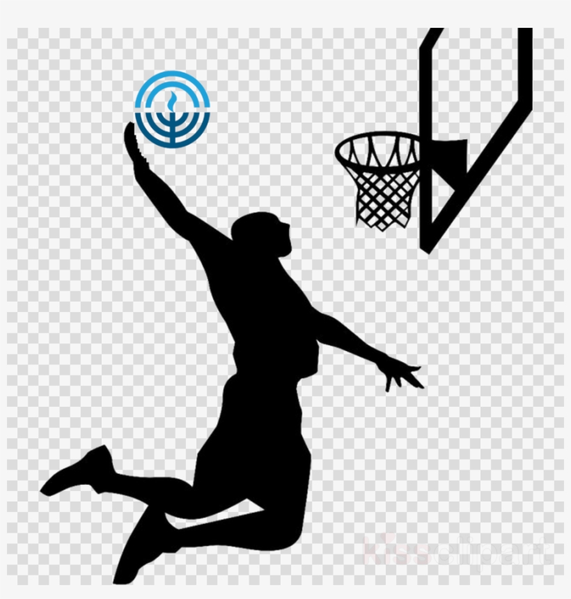 competitive price 63b31 a9d44 Basketball Silhouettes Clipart Wall Decal Basketball - Basketball Slam Dunk  Silhouette, transparent png download