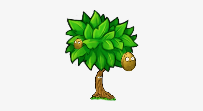 Wall-nut Tree - Plants Vs Zombies Tree Transparent PNG
