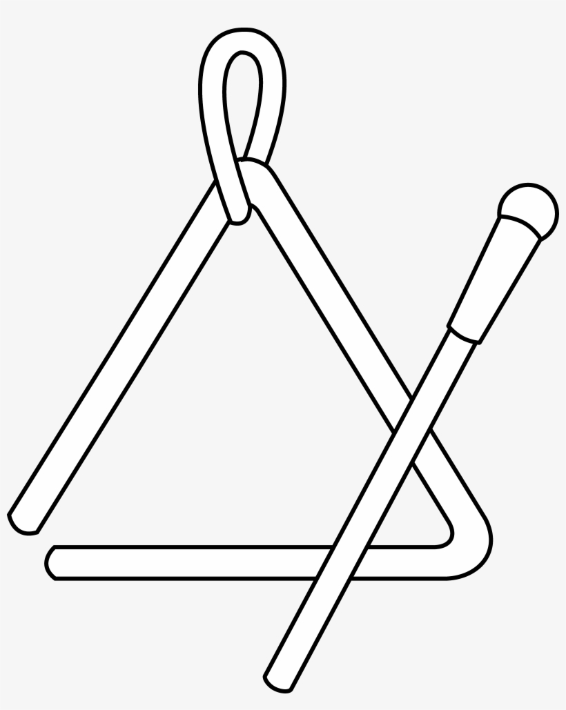 Triangle Instrument Line Art - Triangle Instrument Coloring Page ...