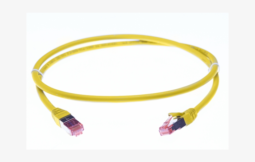 Yellow MCL 1m Cat6A S//FTP LSZH Patch Cable