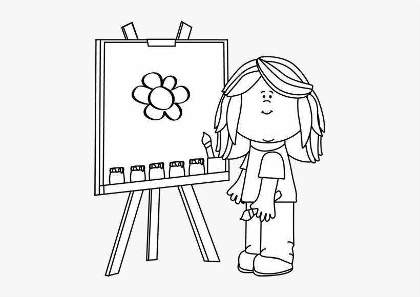 Girl Painting Clip Art
