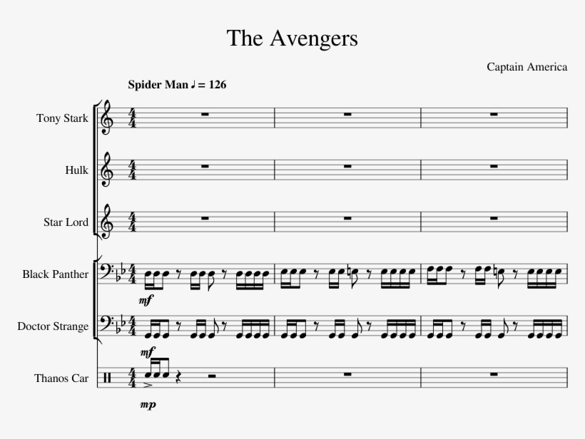 The Avengers Sheet Music For Trumpet, Trombone, Percussion