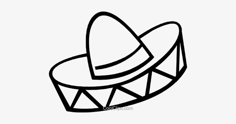Mexican Hat Royalty Free Vector Clip Art Illustration