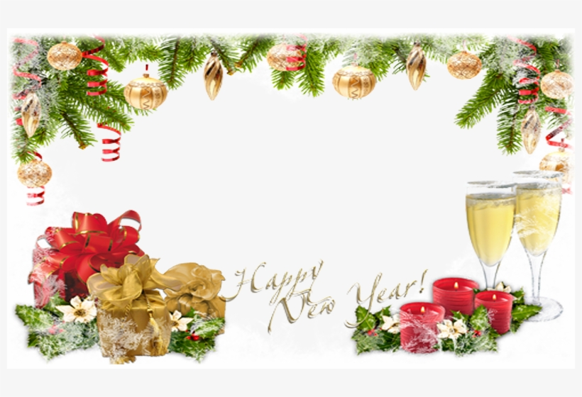 Happy New Year Frame Png Transparent Png 800x480 Free Download