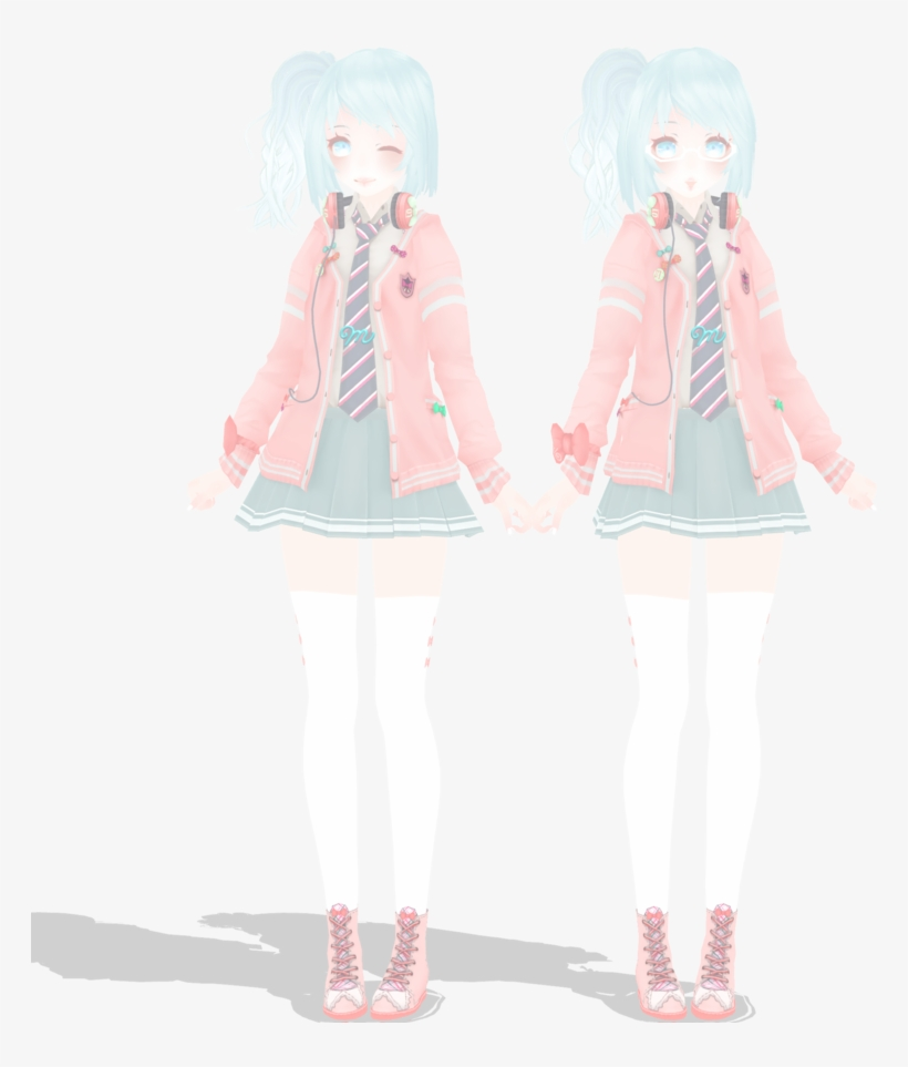 Download Ribbon Girl Miku Ribbon Girl Miku Dl Model Mmd By