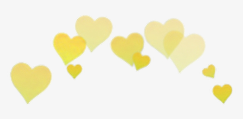 Yellow Heart Overlay Png Edit Tumblr - Heart On Head Png