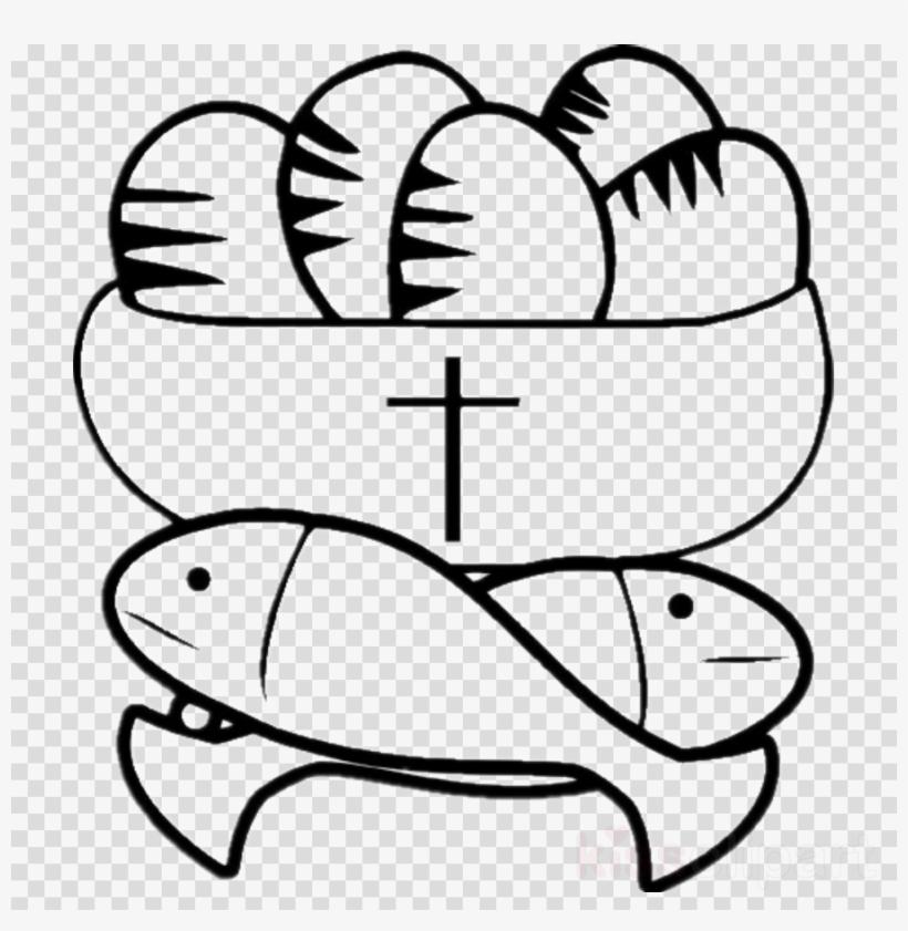 五 饼 二 鱼 Clipart Feeding The Multitude Loaf Bread - Five Loaves