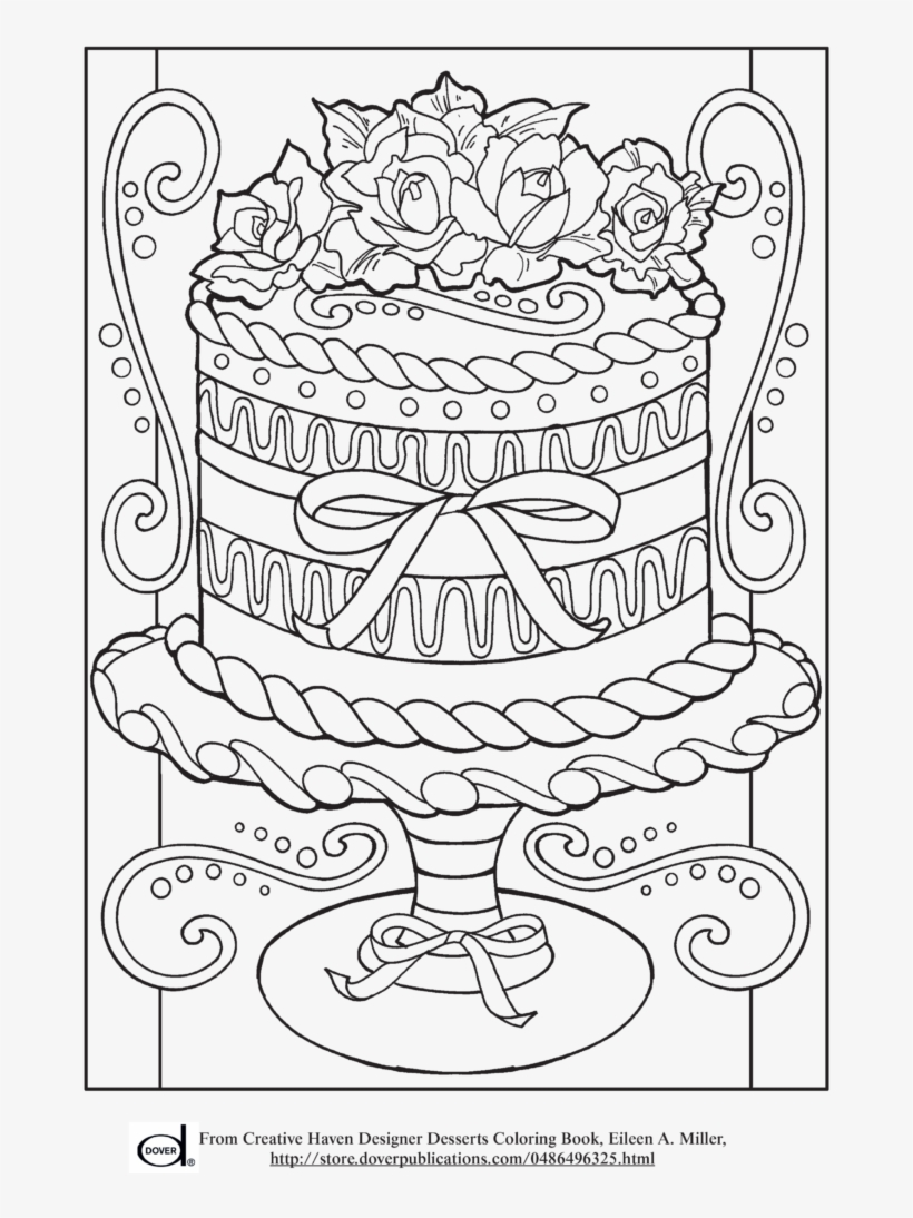 Cakes Coloring Adult Coloring Birthday Pages Transparent Png 728x1024 Free Download On Nicepng