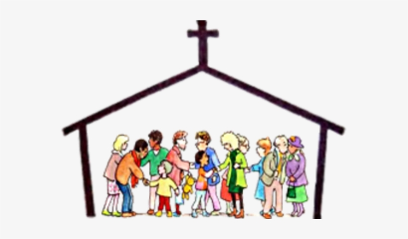 Family church. Clipart community mass transparent