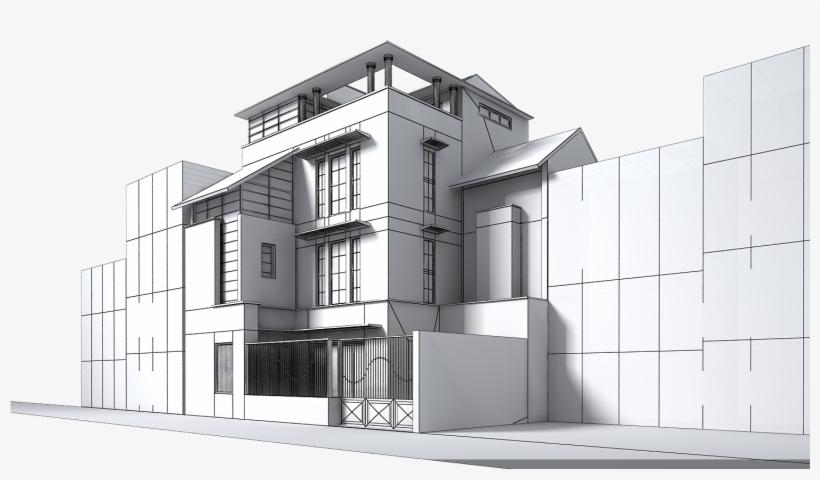 Contemporary Multi Story House 3d Model Max Obj Mtl - 3d Computer
