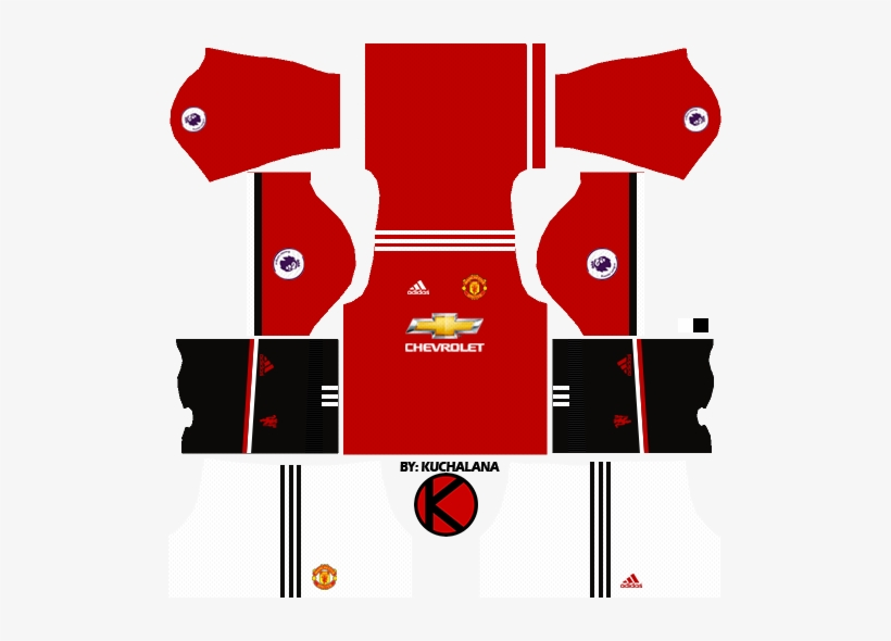 c12a598f03b Manchester United Kits 2017 2018 - Dream League Soccer 2018 Kit Manu ...