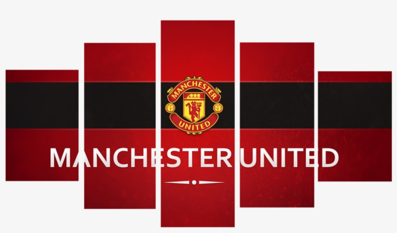 Hd Printed Manchester United Logo 5 Pieces Canvas Manchester United Transparent Png 1024x641 Free Download On Nicepng