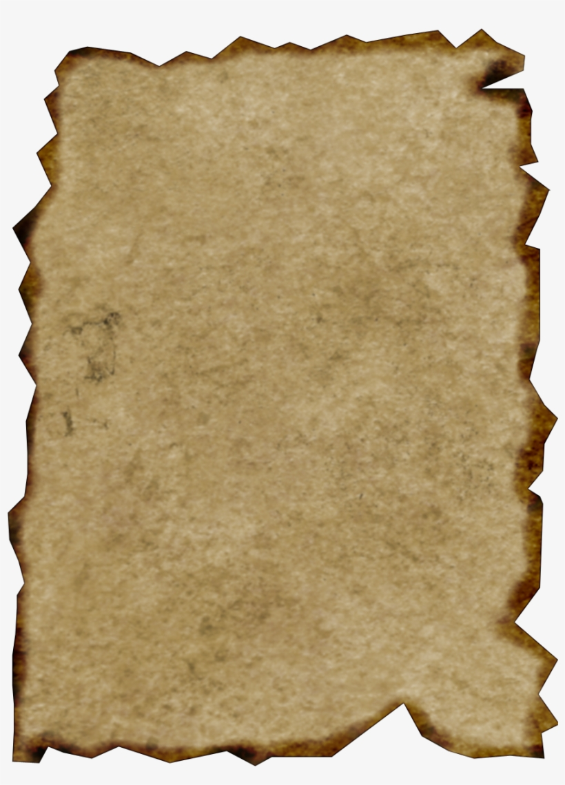 Parchment newspaper. Burnt paper png transparent