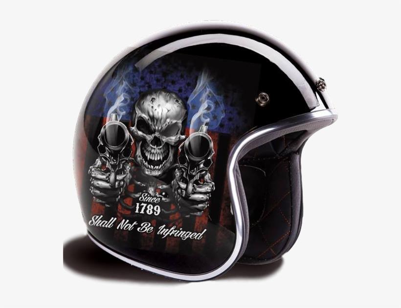 4e6b93ca Exclusive 2nd Amendment Retro 3/4 Style Helmet Not - Daytona Helmets D.o.t. Daytona  Skull Cap- W/ Guns M