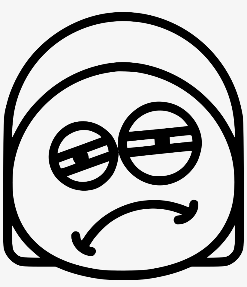Png File - Sleepy Icon Emoji Black And White Transparent PNG