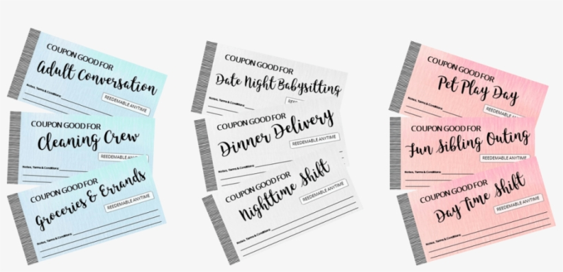 Give The Gift Of Help Printable Coupons For New Expecting Coupon Book Ideas For Mom Transparent Png 1024x445 Free Download On Nicepng