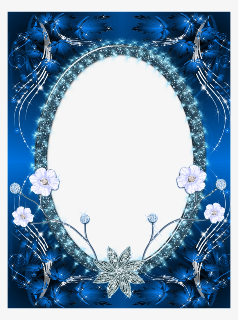 image about Printable Photo Frames known as Paper Consider Frames, Png Picture, Printable Frames, - Blue